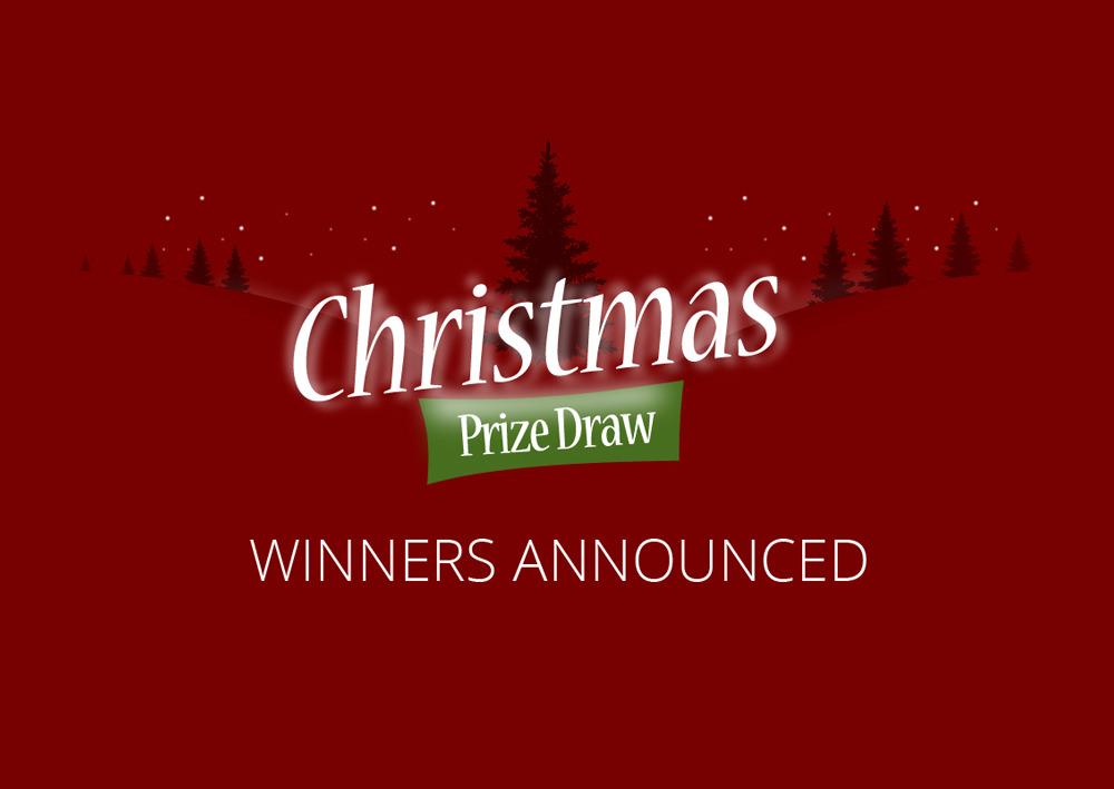 Winners of the Christmas draw