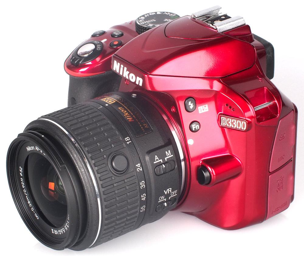 Nikon D3300 Dslr White Bg
