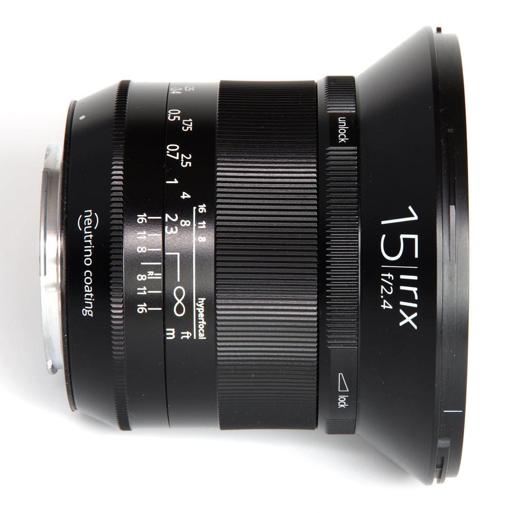 Irix 15mm F2,4 Blackstone Top View