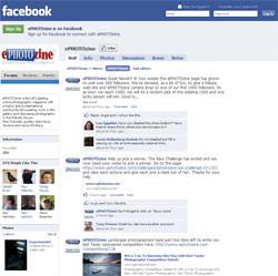 ePHOTOzine's facebook page