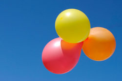 Photographing party balloons