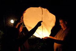 Photographing lanterns