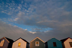 Photographing beach huts