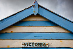 Photographing beach huts close up