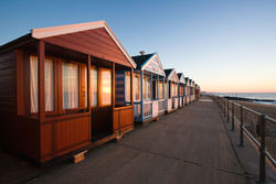 Beach hut photography