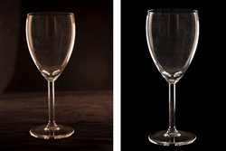 Lighting A Wine Glass With Rim Light