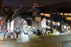 City shoots at night
