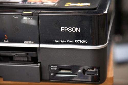 Epson Stylus Photo Printer PX720WD card reader