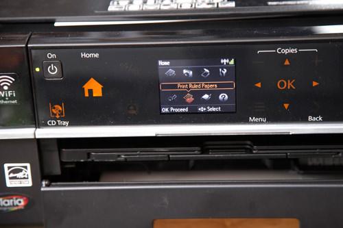 Epson Stylus Photo Printer PX720WD user interface