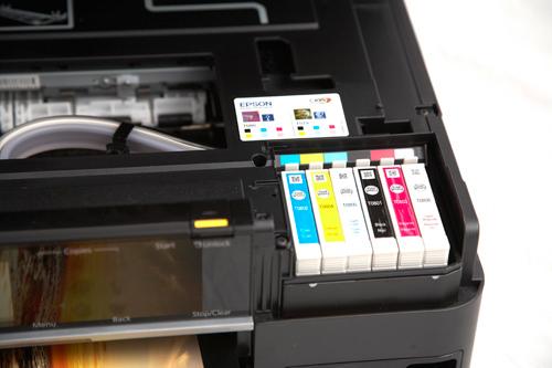 Epson Stylus Photo Printer PX720WD ink reservoirs