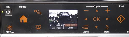 Epson Stylus Photo Printer PX720WD navigation panel