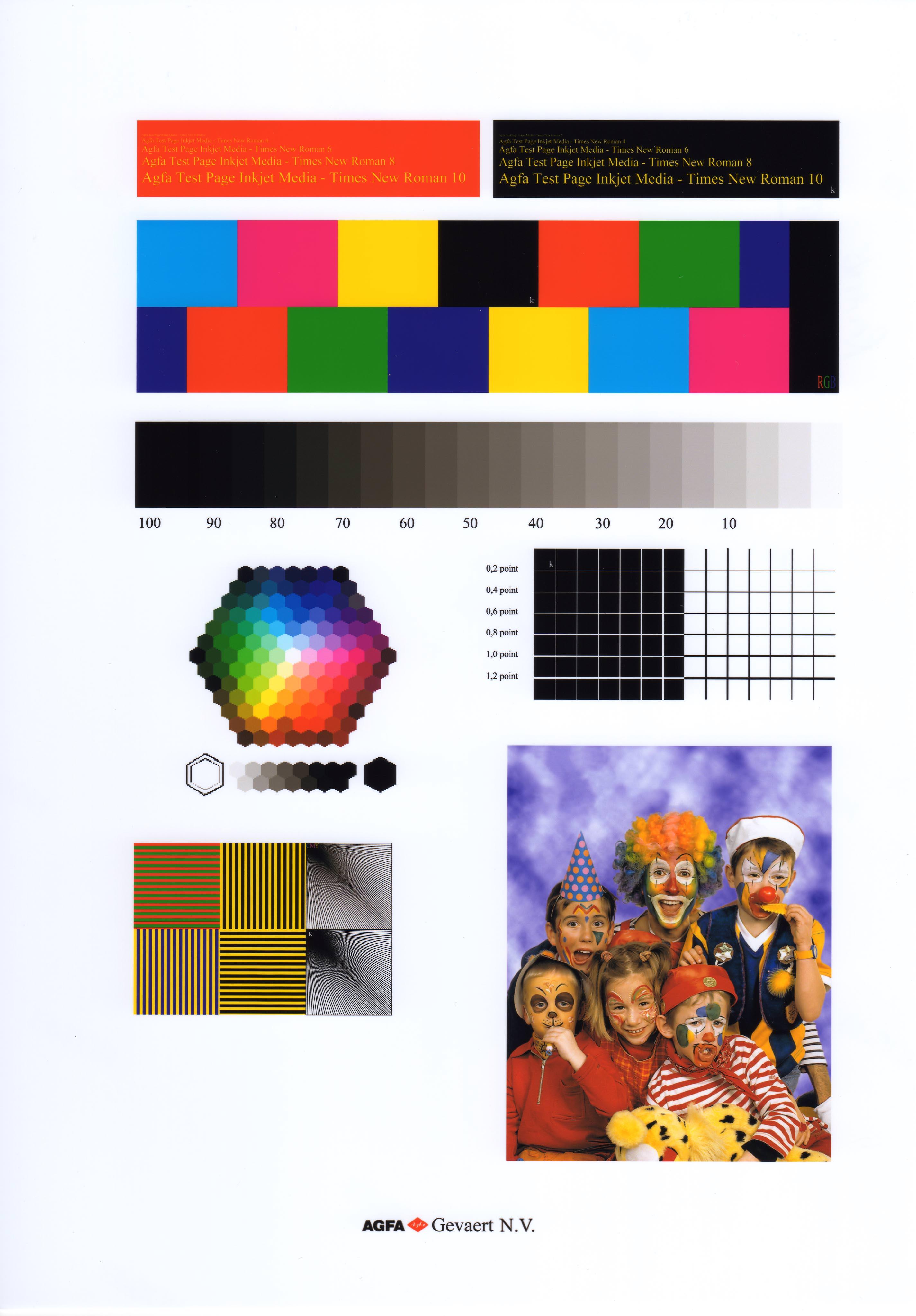 color test page - color test print