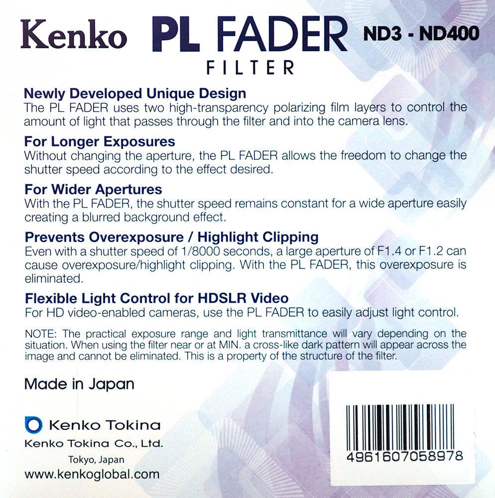 Kenko Pl Fader Rear