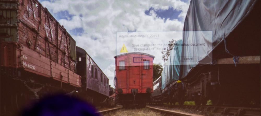 Train photo editing