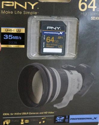 64Gb SDXC Professional X Class 10