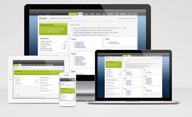 foliopic website admin area