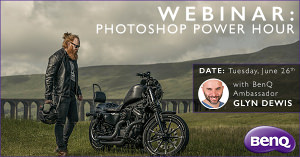 Free Photoshop Online Lesson With BenQ Ambassador Glyn Dewis