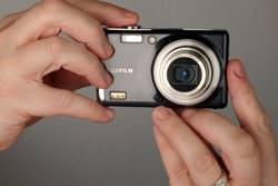 Fujifilm FinePix F70 EXR front view