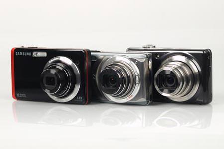 Fujifilm FinePix F70 EXR, Olympus Mju 7010 & Samsung ST550 lined up