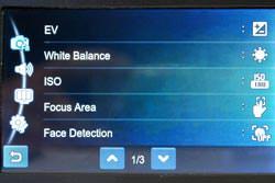 Samsung ST550 screen