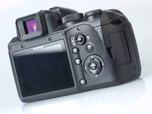 Fujifilm FinePix S200 EXR rear view