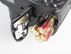 Fujifilm Finepix S2800HD battery compartment