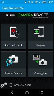 Fujifilm FinePix S9900W Remote App