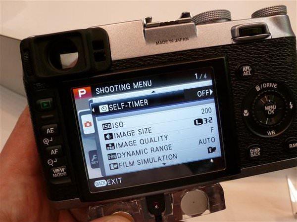 Fujifilm X100 menu