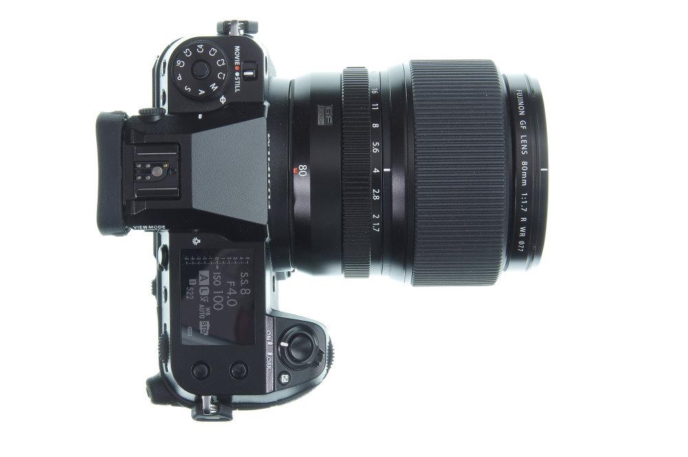Fujifilm GF 80mm F1,7R WR On GFX100 Top View | 1 sec | f/16.0 | 48.0 mm | ISO 100