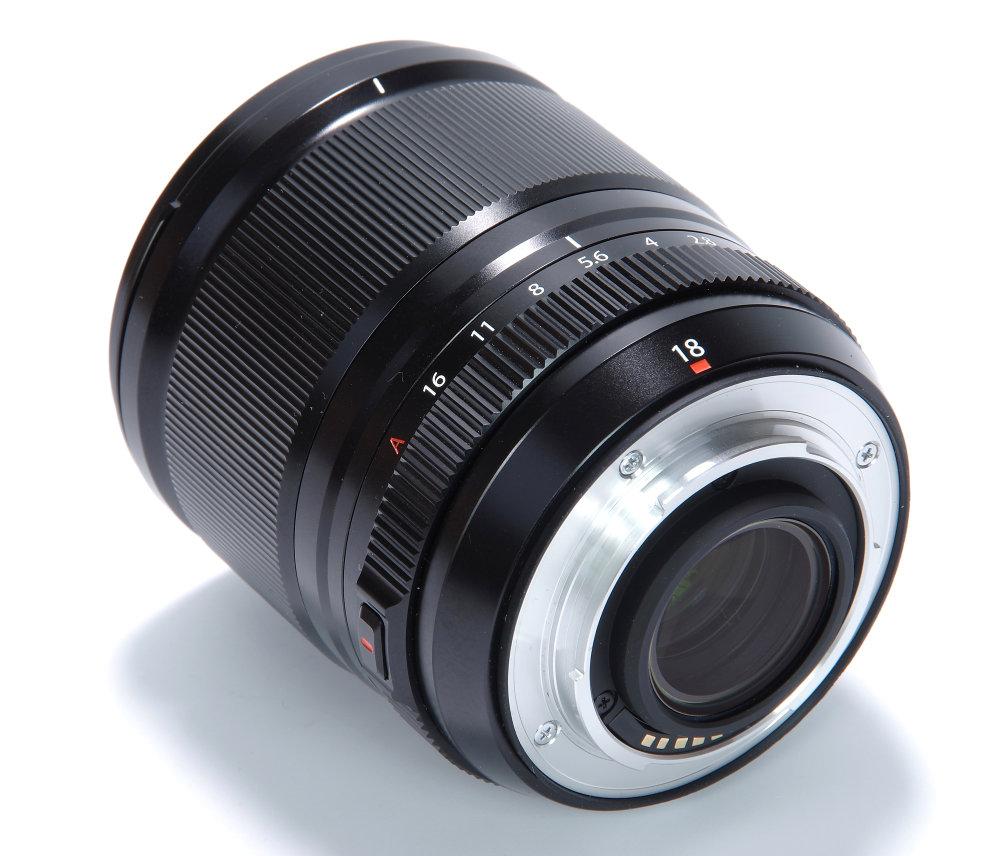 Fujifilm XF 18mm F1,4R LM WR Rear Oblique View