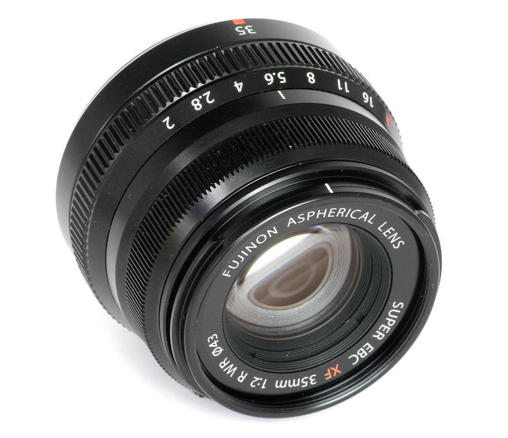 Fuji Xf 35mm F2 Front Three Quarter View
