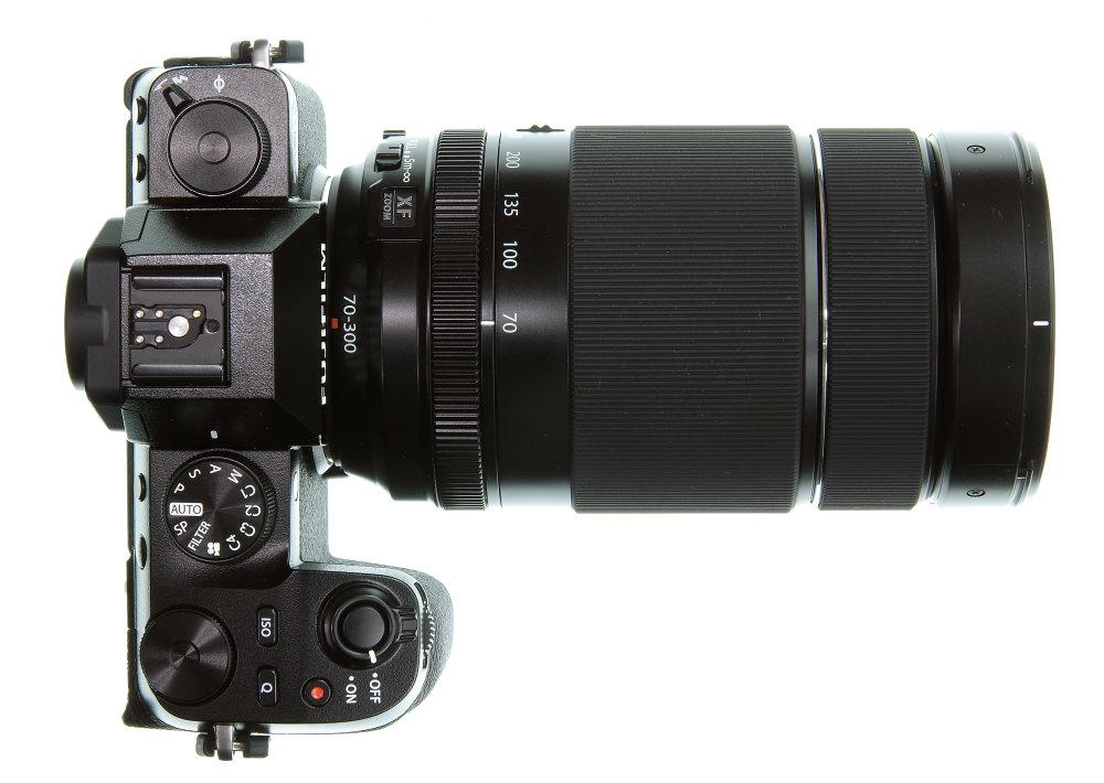 Fujifilm XF 70 300mm On X S10 Top View