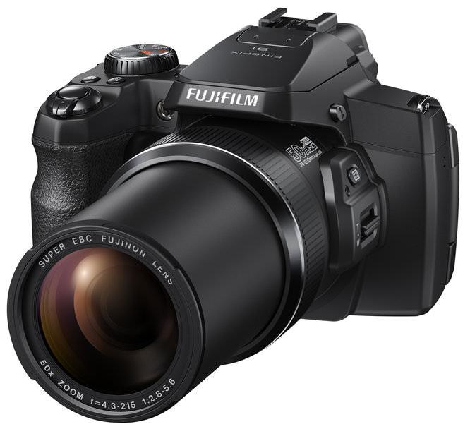 Fujifilm FinePix S1 Black Front Left Tele