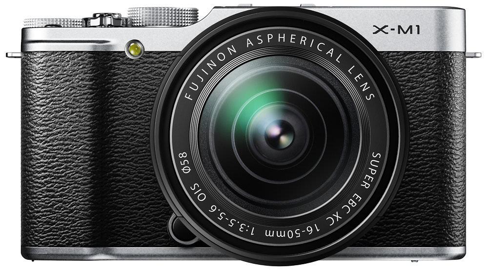 Fujifilm X M1 Silver Front 16 50mm