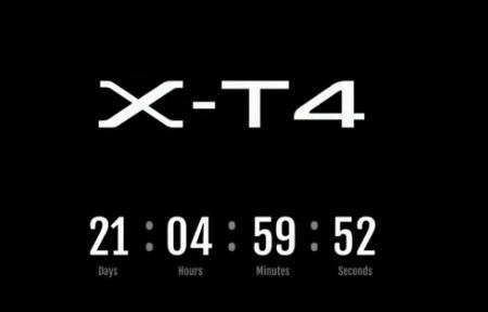 X-T4 camera countdown