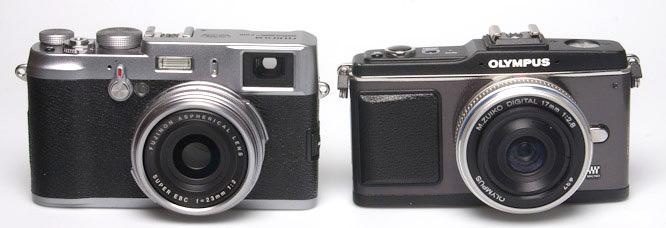 Fujifilm Finepix X100 and Olympus E-P2