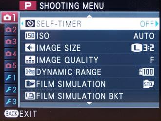 Fujifilm X100s Screens (2)