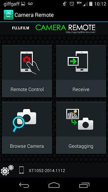 Fujifilm X100t Camera Remote