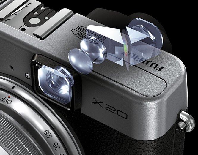 Fujifilm X20 Viewfinder Detail