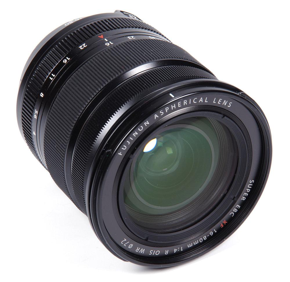 Fujinon 16 80mm F4 Front Oblique View