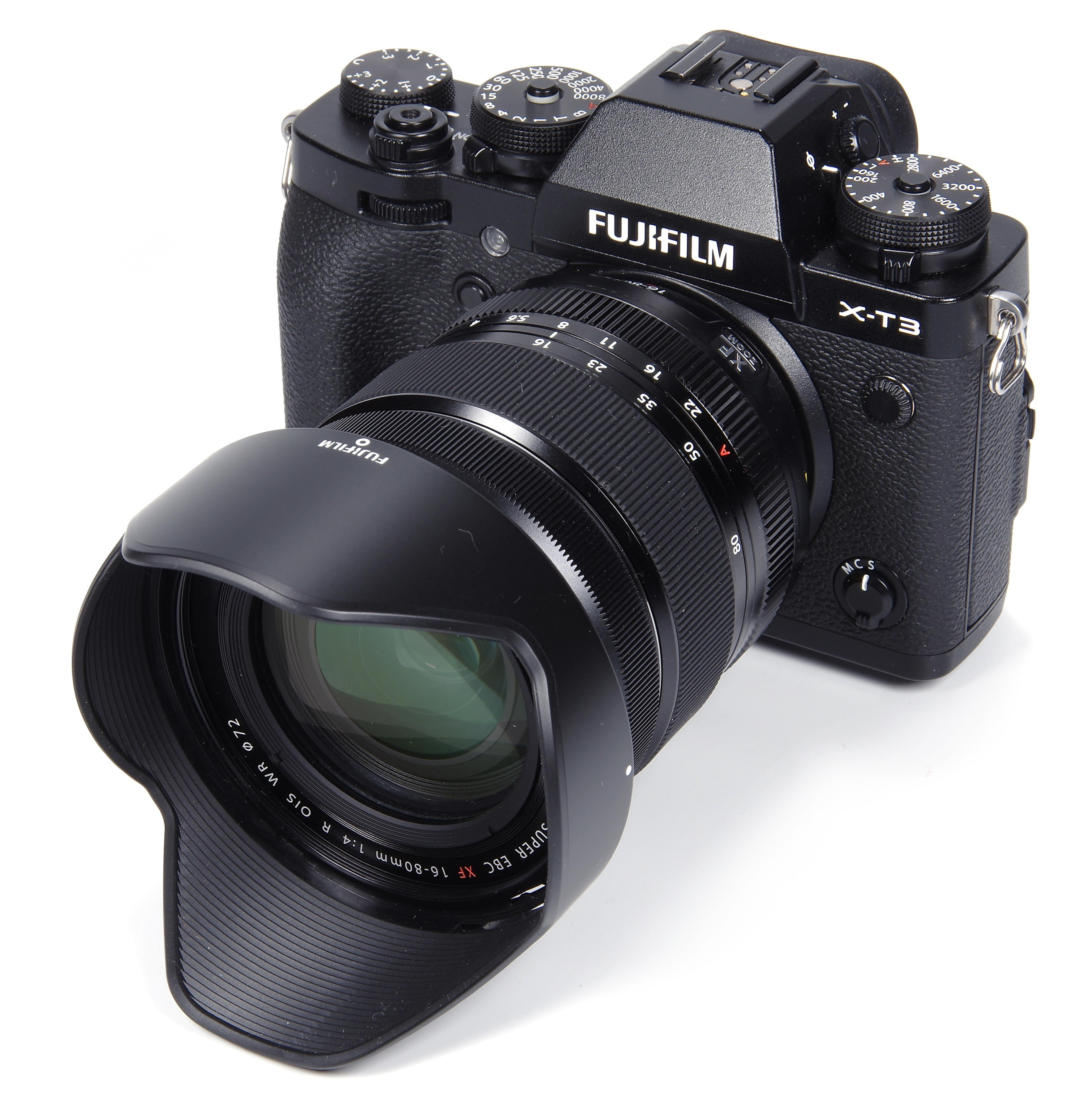 Black with Fujinon XF16-80 mm F4 R WR Optical Image Stabiliser Lens Kit Fujifilm X-T4 Mirrorless Digital Camera