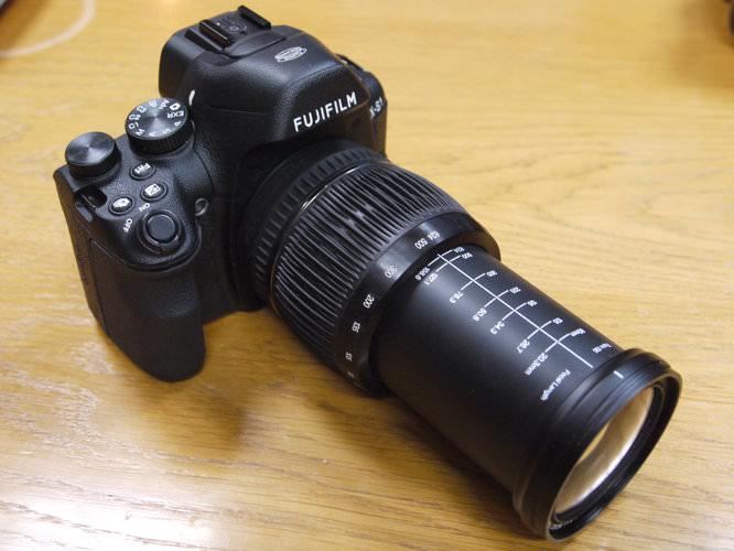 Fujifilm X-S1 Lens Extended