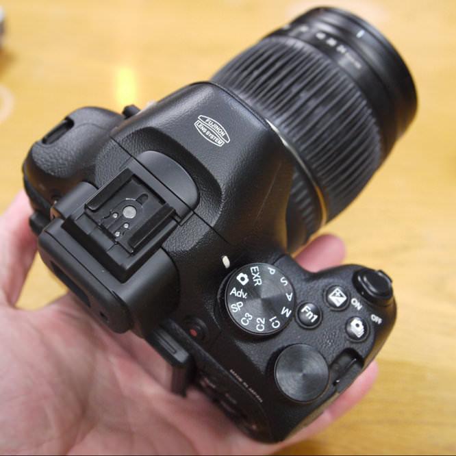 Fujifilm X-S1 Top