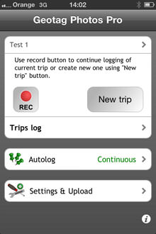 Geotag Photos Pro iPhone App Screenshot