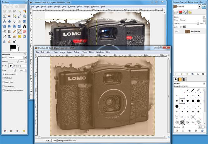 GIMP 2.6 Workspace