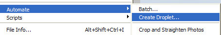 Automate menu