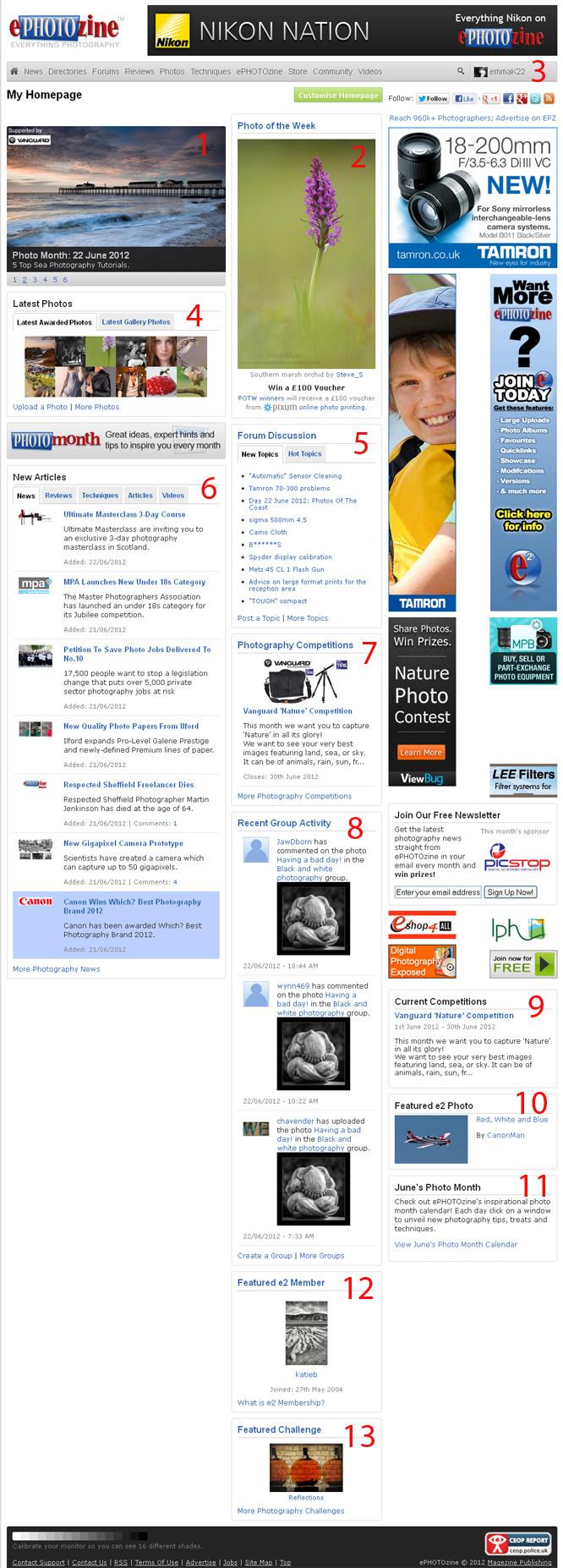 epz homepage numbered
