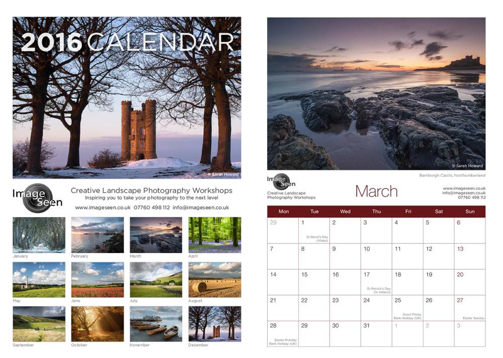 Calendar Landscape : Half price landscape photography calendar