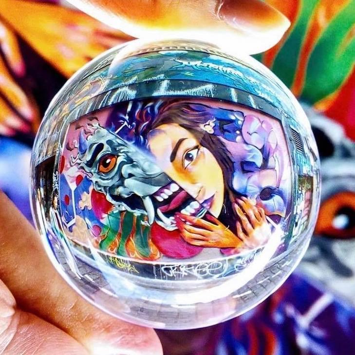 Street Art Through A Lensball