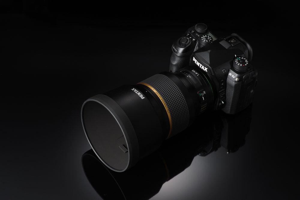 Pentax 85mm on camera